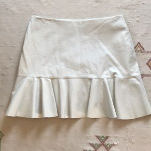 NET ZARA FAUX LEATHER RUFFLE SKIRT